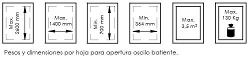 Dimensiones INTERWIND PR45