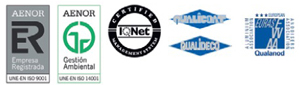 certificados de calidad aluminio sistemas cerramientos